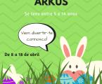 A ARKUS – Associação Juvenil, vai realizar mais um Atelier nesta Páscoa.