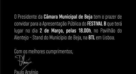 Apresentação Pública do FESTIVAL B (22 a 24 de junho em Beja)