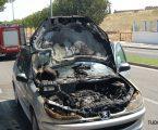 Viatura ardeu à entrada de Elvas
