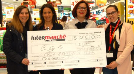 Intermarché de Elvas faz doação de 500 euros à Delegação da Cruz Vermelha Portuguesa