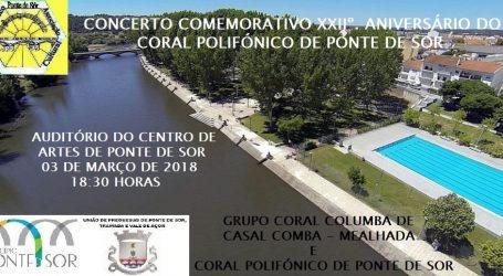 CORAL POLIFÓNICO DE PONTE DE SOR COMEMORA ANIVERSÁRIO COM CONCERTO