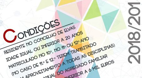 ELvas: Candidaturas abertas para as Bolsas de Estudo do Secundário
