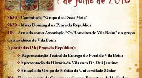 Comemoração dos 500 anos do Foral de Vila Boim