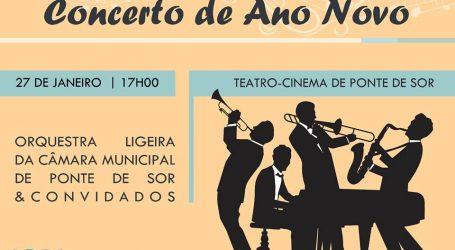 A Orquestra Ligeira da Câmara Municipal de Ponte de Sor  Concerto de Ano Novo
