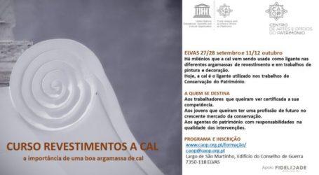 Curso de revestimentos a cal no Centro de Artes e Ofícios do Património, em Elvas