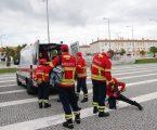Simulacro testa capacidade de reposta em acidente de autocarro