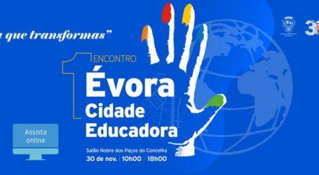 "Município de Évora dinamiza 1º Encontro ""Évora Cidade Educadora"""