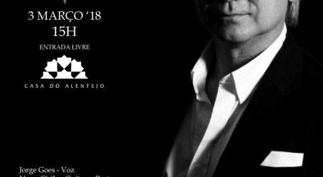 """Casa do Alentejo Jorge Goes apresenta álbum""""Fado Novo Fado Velho"""""""