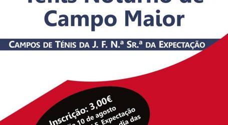 Campo Maior:  I Torneio de Ténis Noturno.