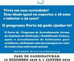 Ponte de Sor: PORTA 65 JOVEM – CANDIDATURAS TERMINAM A 7 DE JANEIRO