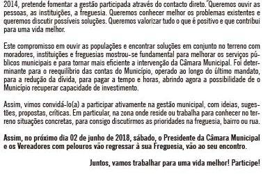 """Évora: """"Pelos Caminhos do Concelho, ao Encontro das Populações"""" volta à Agenda Municipal"""