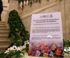 Inauguração da mostra de flores de papel de Campo Maior representativas dos 27 países da União Europeia na Assembleia da República.