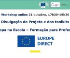 EUROPE DIRECT Alto Alentejo promove workshop online para professores no dia 21 de outubro