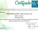 Intermarché de Portalegre com selo COVID SAFE PLACE