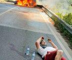 Militar da GNR salva vida a condutor acidentado