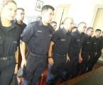 1.º estágio profissional: Agentes estagiários da Escola Prática de Polícia.