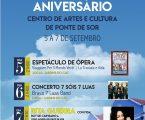 PONTE DE SOR:  10º ANIVERSÁRIO DO CAC | 5 a 7 de setembro