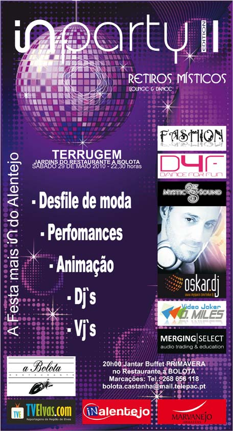 Elvas/Terrugem: IN PARTY II – A Festa mais In do Alentejo
