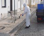 A Junta de Freguesia de Santa Eulália, iniciou a desinfeção de Ruas, Espaços Públicos