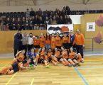 """Seniores Femininas da Associação de Juventude """"A Planície"""" sagram-se Campeãs Distritais de Futsal."""