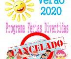 Vila Viçosa: Cancelamento do Programa de Ocupação de Tempos Livres – Férias de Verão para o ano de 2020